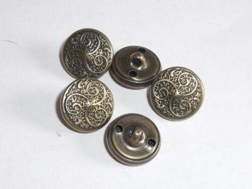 6 Trachtenknöpfe Knopf Ösenknopf Knöpfe 13 mm altmessing NEU rostfrei 0098.1