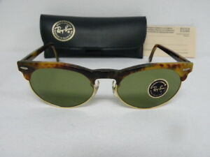 d126ee2a81 New Vintage B L Ray Ban Oval Max Blonde Tortoise RB-3 W1268 ...