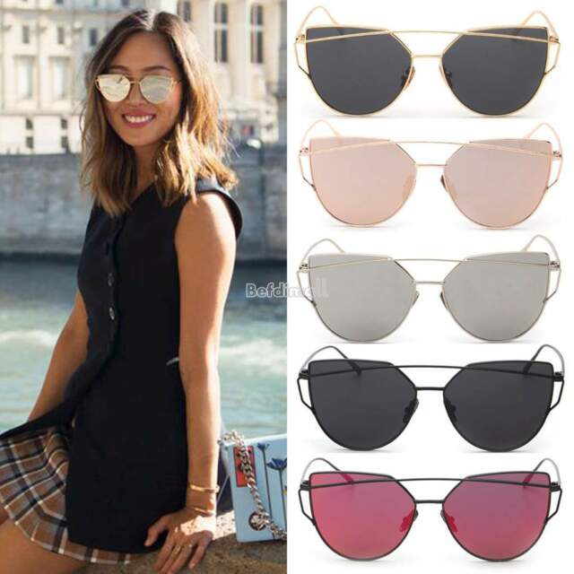Unisex Men Women Mirror Vintage Style Retro Oversized Sunglasses Eyewear