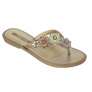 9a005342f8768 Image is loading Grendha-Ladies-Splendore-Gold-Sandals
