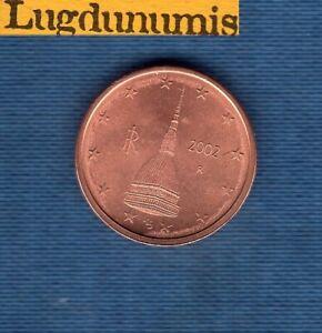 Italie 2002 2 centimes SUP SPL provenant d'un rouleau Italia