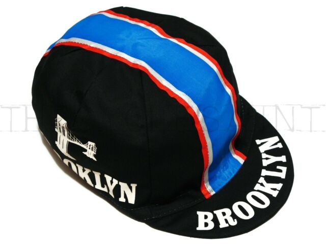 NEW Bella Capo Brooklyn Cycling//Bicycle Cap Black with Stripe Made in Italy