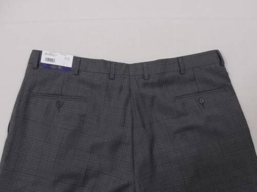 Hart Schaffner Marx Mens 100/% Wool Pants Trousers Pleated 34 34R Grey Plaid $150