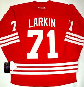 NWT DYLAN LARKIN DETROIT RED WINGS L XL MEN ADULT HOME REEBOK NHL ... 76ccf3392
