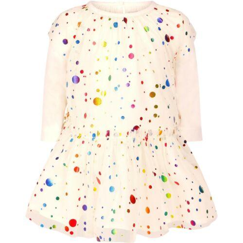 STELLA McCARTNEY baby girl LS DRESS SET foil multi-colour dots 6 9 12 18 24M