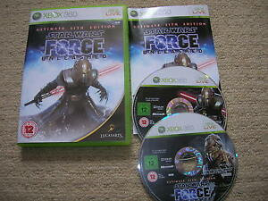 STAR-WARS-THE-FORCE-UNLEASHED-Rare-XBOX-360-Game