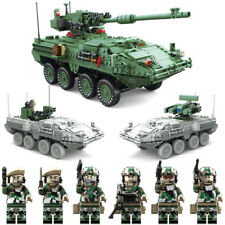 1672pcs M1128 Large Oxford Block 3 in 1 World War Series Military Tank for LEGO