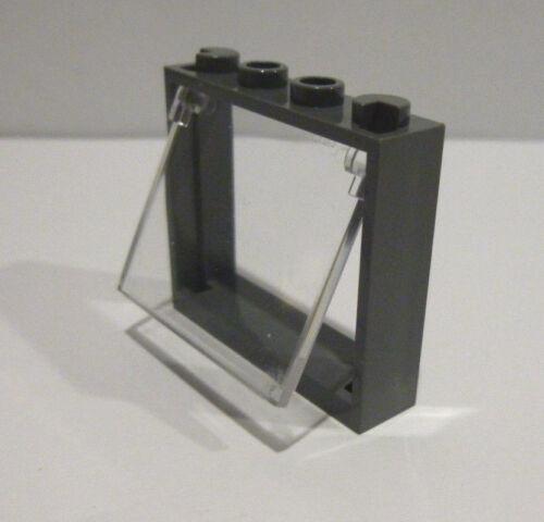 chiaramente 1x4x3 neudunkellgrau Merce Nuova 1 X LEGO ® 60594 finestra con vetro finestra pieghevole