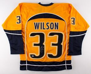 newest collection 9e676 216b7 Details about Colin Wilson Signed Predators Jersey (Beckett ) 7th Overall  Pick 2008 NHL Draft