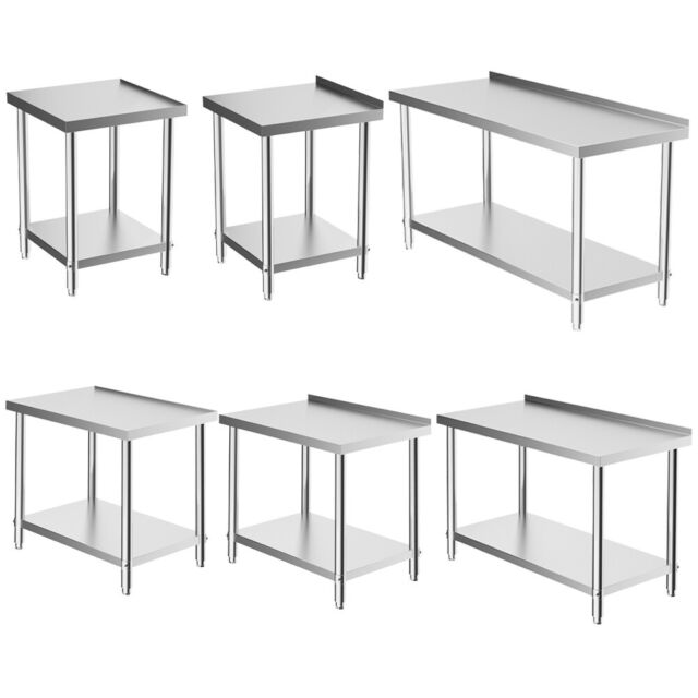 Cool Commercial Stainless Steel Kitchen Food Prep Work Table Bench 2 6Ft Wide Worktop Cjindustries Chair Design For Home Cjindustriesco