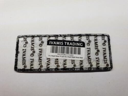 I/'M A PEOPLE PERSON JUST NOT  Biker Patch Embroidered Sew Iron on Motorcycle