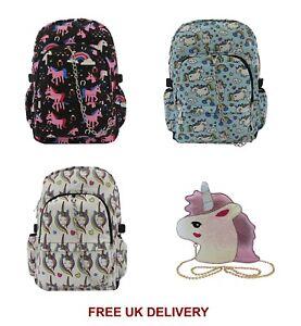 UNICORN-Backpack-Rucksack-Cool-Cute-School-Festival-Rainbow-Goth-Emo-Travel-Bag