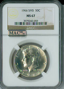 2016-P KENNEDY HALF DOLLAR NGC MS-67 2ND FINEST GRADED .