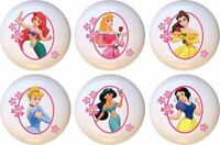 Set Of 6 Disney Princess Frame Ceramic Drawer Pulls Dresser Drawer Cabinet Knobs