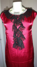 Gorgeous See U Soon Lace detail Mini Evening Shift Dress Size S RRP £81