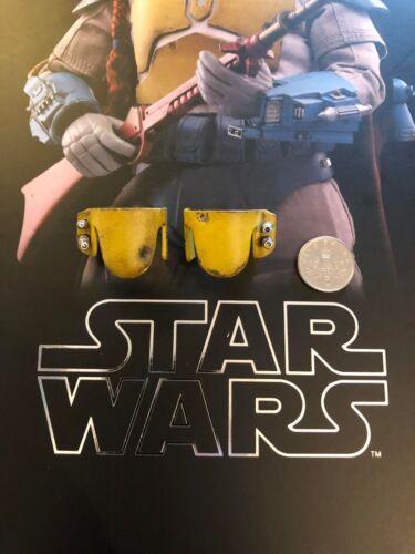 HOT Toys Star Wars Boba Fett Animato Giallo Ginocchiere Loose SCALA 1//6th