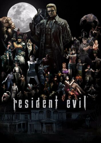 A1 - A5 SIZES AVAILABLE RESIDENT EVIL GAME COLLAGE WALL ART POSTER