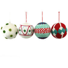 HOLIDAY LIVING Ornaments SET Pack of 4 yarn felt fabric christmas holiday NEW