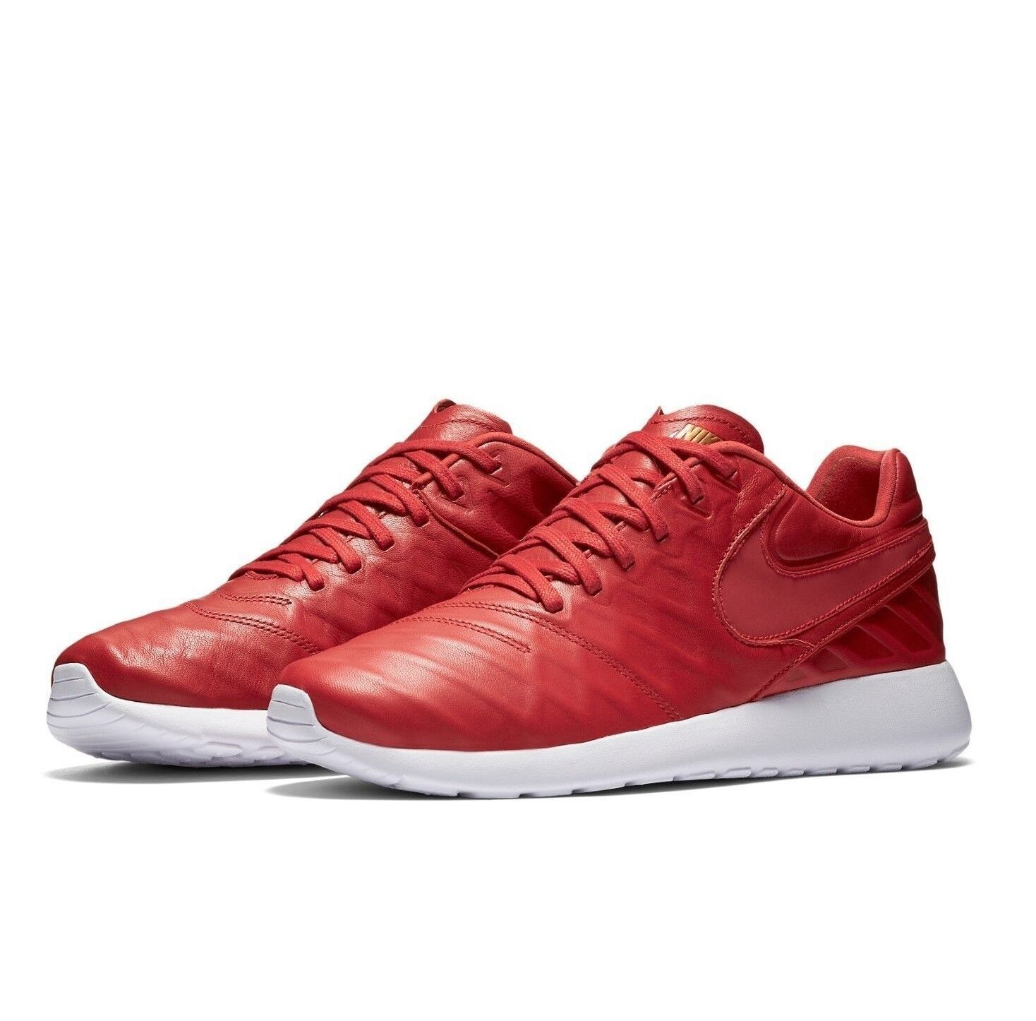 Nike Roshe Tiempo VI QS Leather shoes University Red