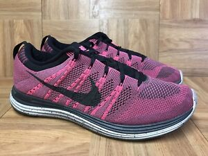 RARE-Nike-Flyknit-One-Pink-Flash-Black-Midnight-Fog-554887-600-Sz-10-5-Men-039-s