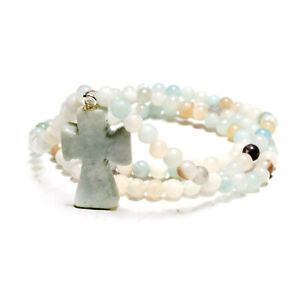 Cross-Pendant-Wrap-Bracelet-Amazonite-Beaded