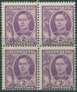 Australia 1948 SG230 2d bright purple KGVI block MNH