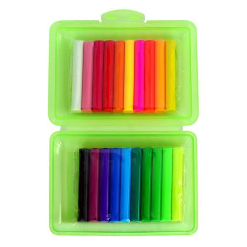 Knete Knetstangen in 20 er Box Knete Farbe sortiert Schulknete Bastelknete Neon