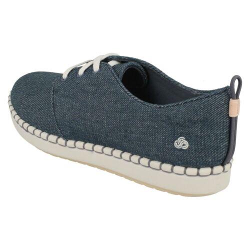 Step Glow Cordones Lona Encaje Zapatos Mujer Clarks n87xq5w17R