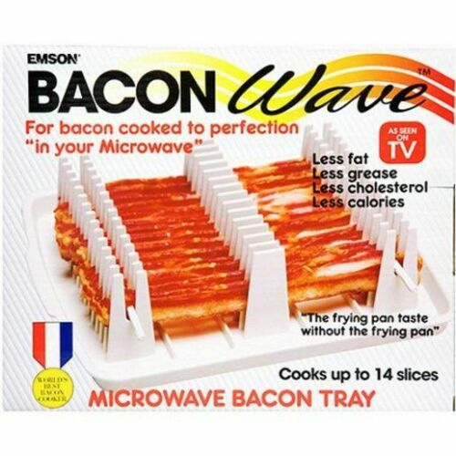 Crispy Microwave Bacon Wave Cooking Rack and Drip Tray by As Seen on TV