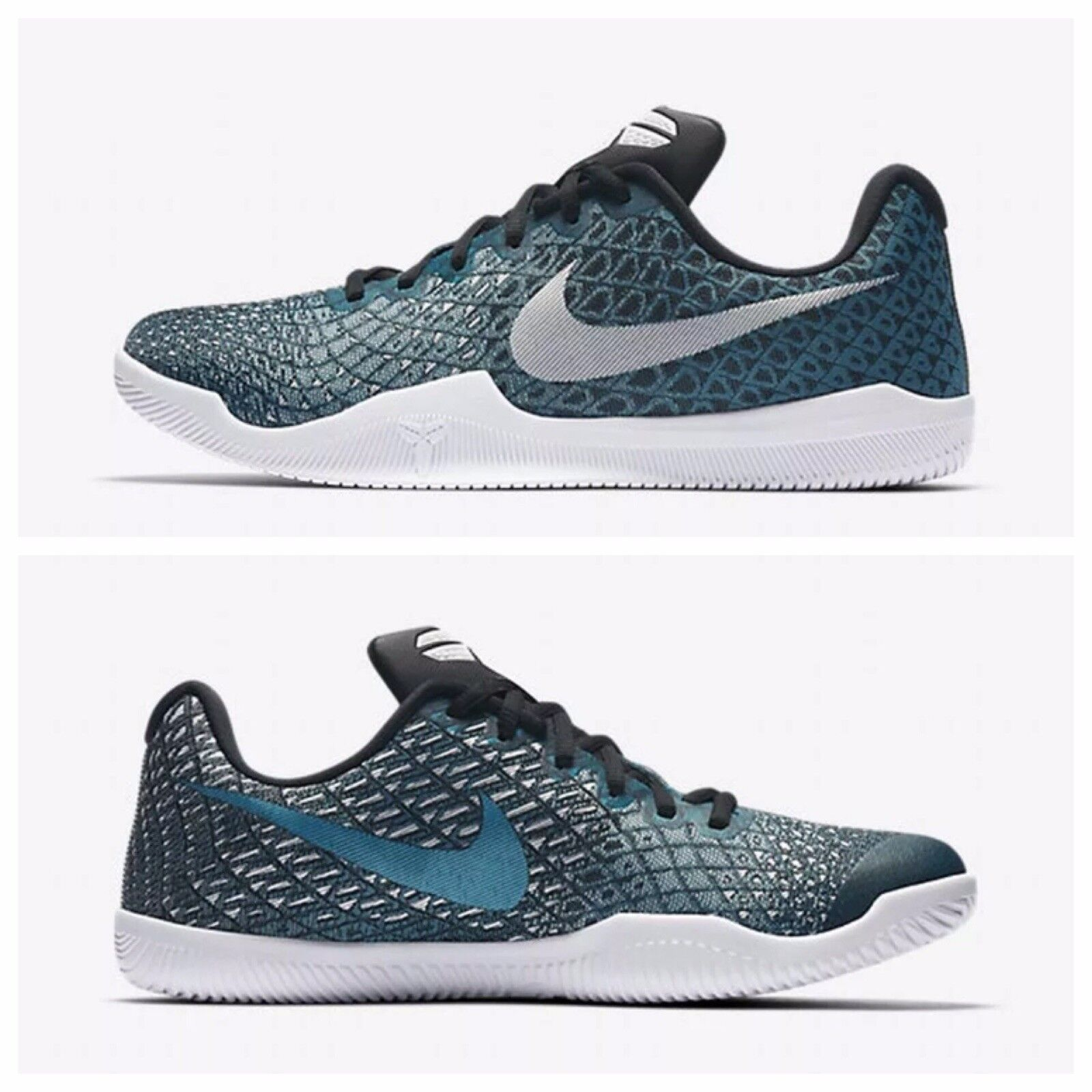 Nike KOBE Mamba Instinct Pure Platinum Basketball Shoes (852473 300) - Size 10