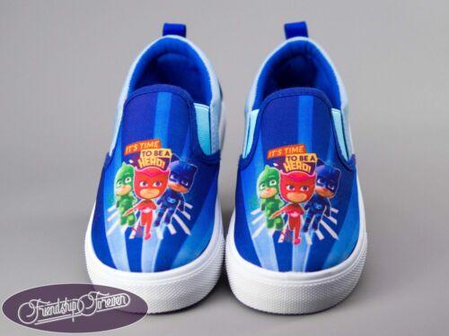 PJ Masks Kids Slip-on Canvas Shoes Trainers Sneakers Original Licensed PJ Mas...