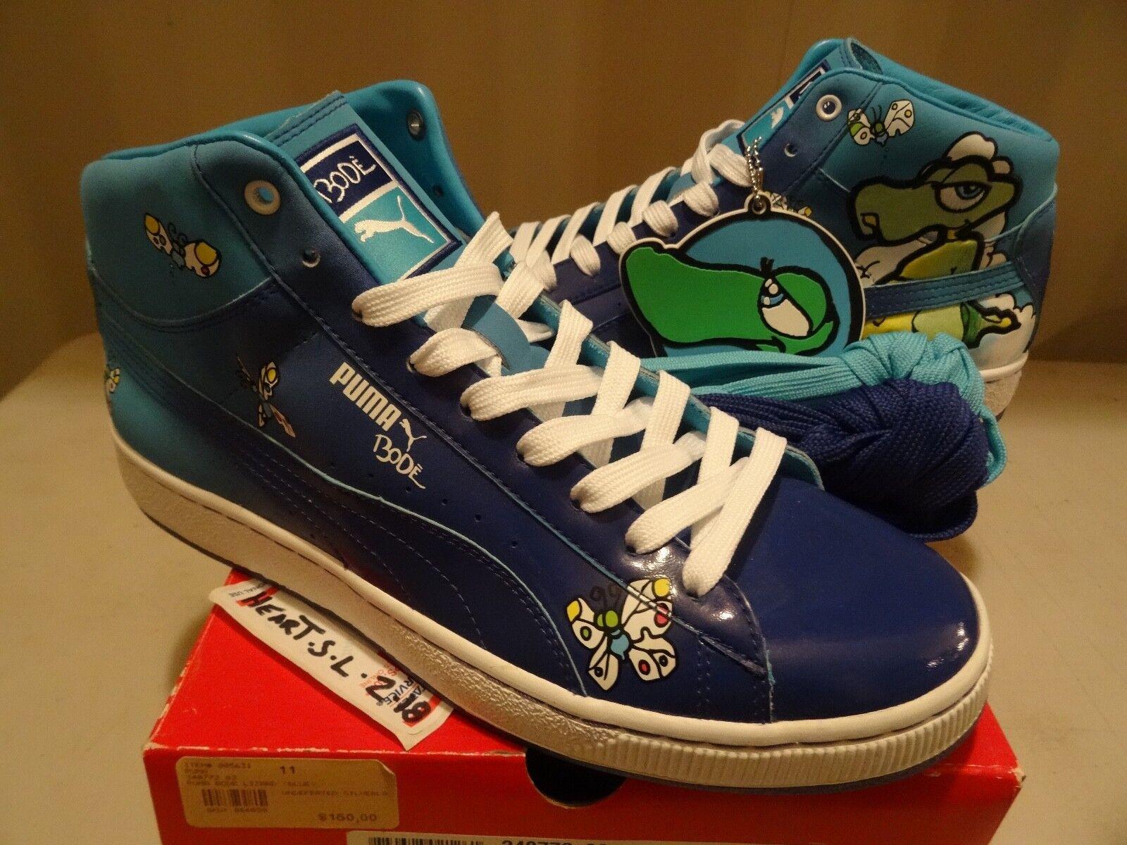Nuevo PUMA x BODE Lagarto Azul Medio para Hombre Graffiti Arte Mariposa Raro 348772 02
