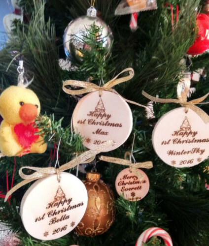 New 3X Personalized 2017 Christmas//holiday Ornaments//Decors//keepsakes 2 1//2/""