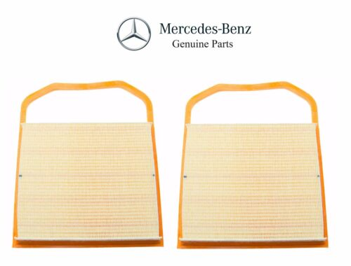 For Mercedes W205 W207 W212 Pair Set of 2 Air Filters NEW Genuine 276 094 05 04