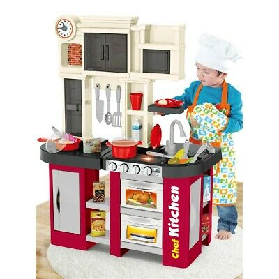 Little Bakers Kitchen Play Set Pretend Baker Kids Toy Cooking Girls Real Sound