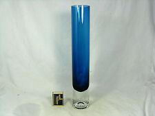 Zylindrische / cylindrical 70´s design GRAL  Glas / glass vase  35 cm