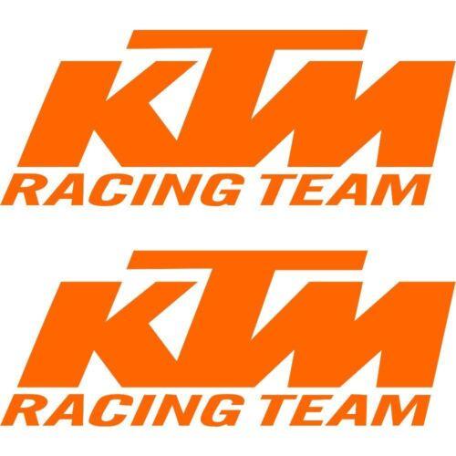 2 Autocollant Stickers Orange KTM Racing Team Qualité Premium 1050 Adventure