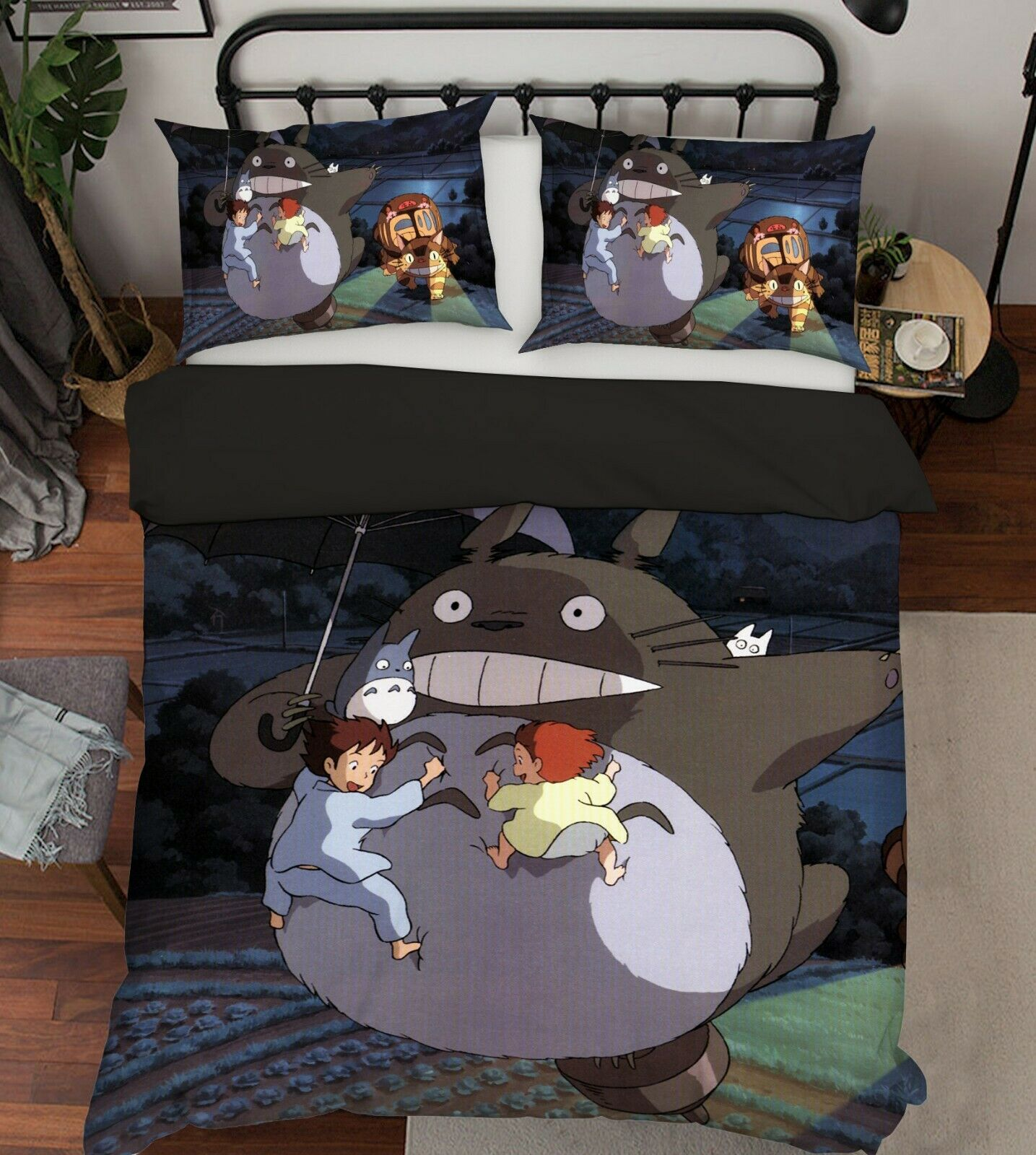 3D My Neighbor TotGold B019 Japan Anime Bed Pillowcases Quilt Duvet Cover Wendy