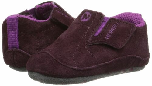 Merrell Jungle Moc Baby Crib Shoe Berry Purple And Grey Infant Size 1