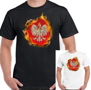 Bandera-De-Polonia-llamas-Mens-t-shirt-polaco-Polska-Orzel-Futbol-Dia-de-la-independencia