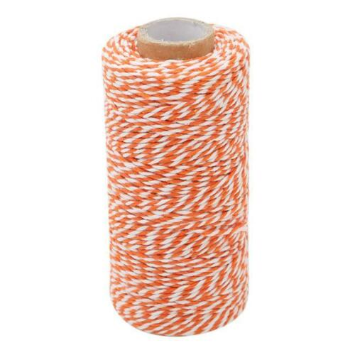 100m Bakers Twine 1mm Crafts String Gift Wrap Tags Cotton Party Ribbon CB