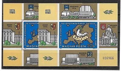 Mi Block 147a 147b Kw 33,00€ Dauerhafter Service Europamitläufer Postfrisch Eum-81 Ungarn