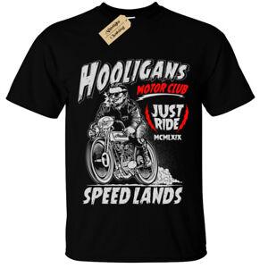 Camiseta-Hooligans-Motociclista-para-Hombre-Regalo-Presente-Bicicleta-Moto-jinete-Rock-Motocicleta
