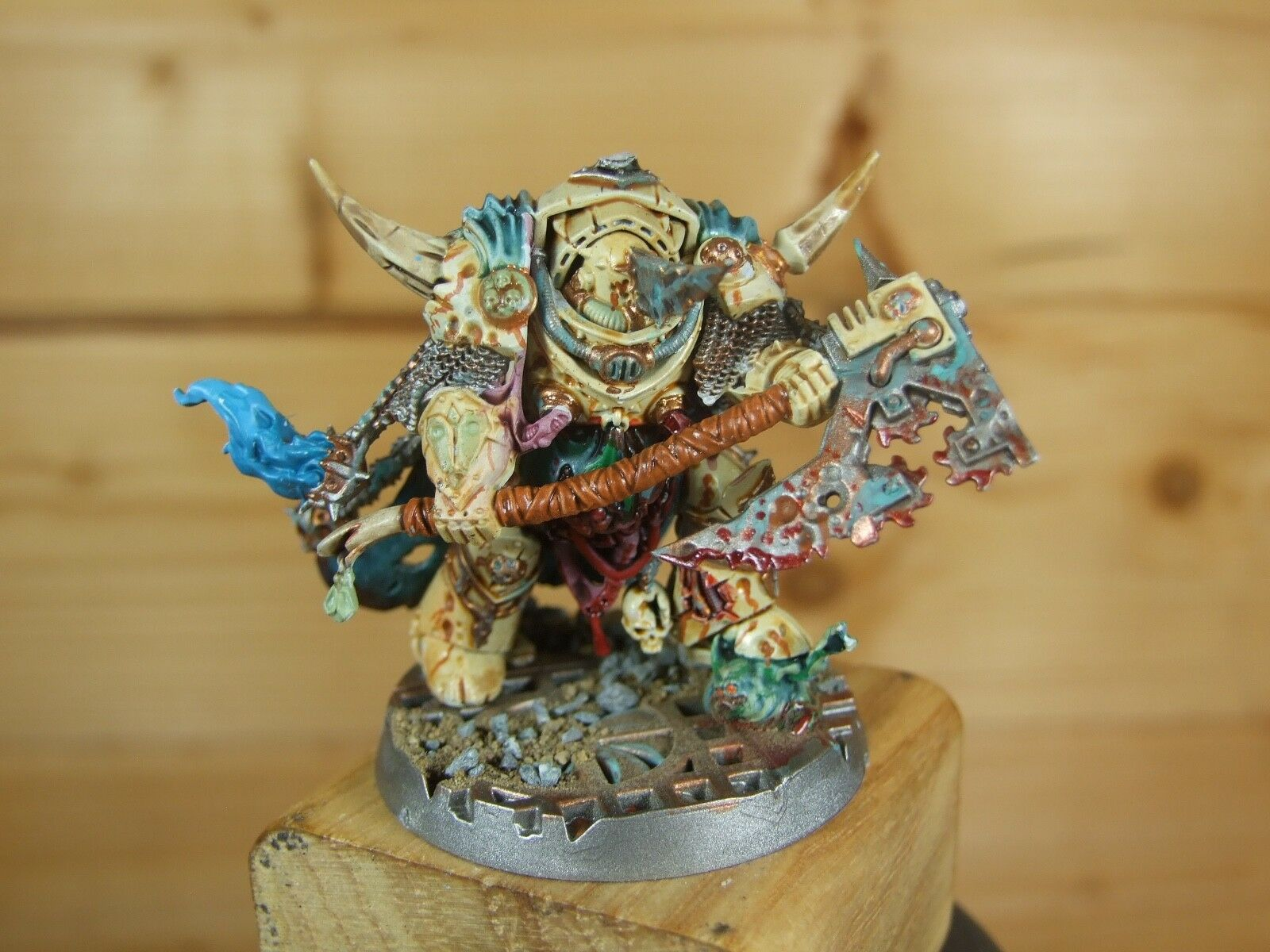 PLASTIC WARHAMMER DEATHGUARD LORD OF CONTAGION WELL PAINTED (4070)