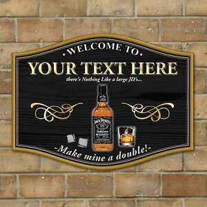 Whisky Bar Sign, Personalised Make mine a double! Home Bar Sign ...