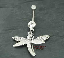 Bauchnabel Piercing LIBELLE Dragonfly CLEAR Kristall