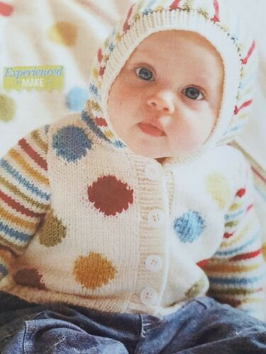 18 MONTHS  CARDIGAN WITH HOOD AND BLANKET 074 DK KNITTING PATTERN FROM BIRTH