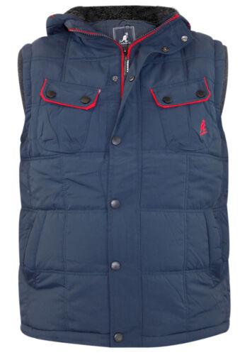 New Doublé Sleeve Veste Moins Mens Gilet Polaire Kangol Rembourré Designer rqRr8tw