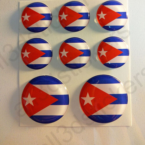 Stickers Cuba Gel Domed Resin 3D Flags Cuba Vinyl Sticker Decals Helmet Car