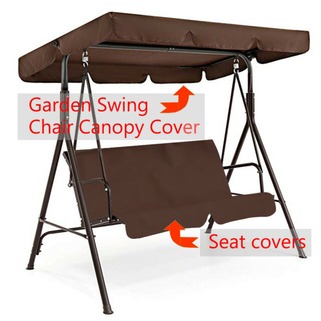 3 Seater Garden Swing Chair Replacement Canopy Spare Cover Outdoor Patio UK Sell